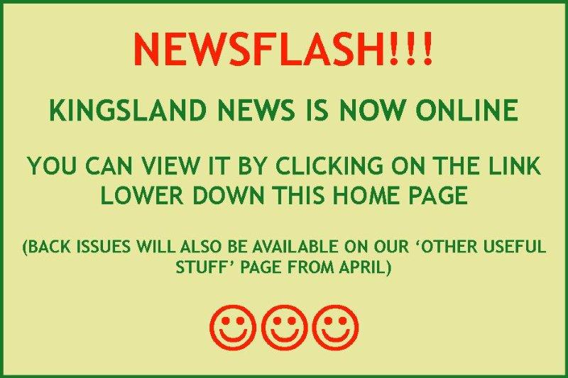 Slideshow KingslandNews notice