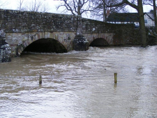 The bridge at Lugg Green Feb 9th 2014