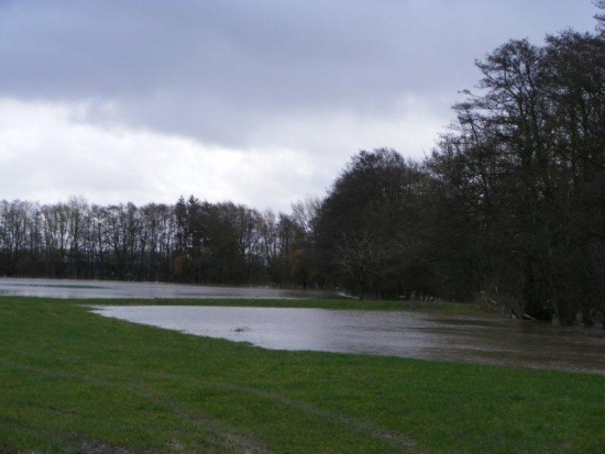 River Lugg flooding the fields Feb 9th 2014