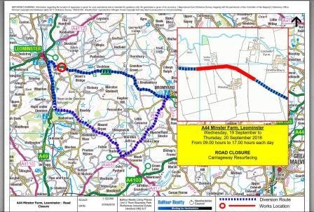Four Local Road Closures coming up