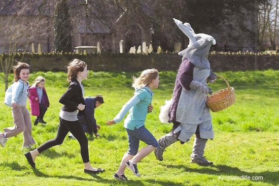 Easter Rabbit Fundraising on the Millennium Green, 2010