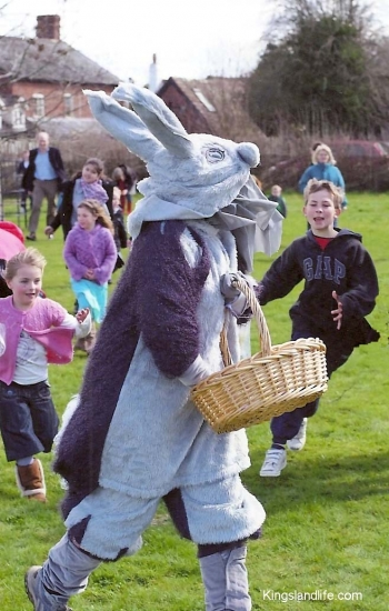 Easter Rabbit Fundraising on the Millennium Green, 2010