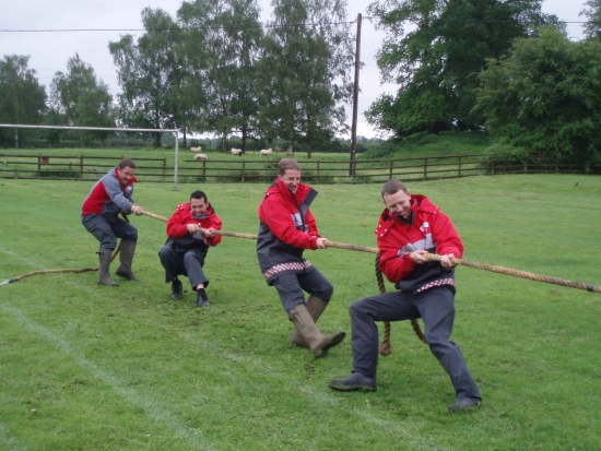 Jubilee Celebrations (June 2012): The Tug-of-War held at the Coronation Hall in aid of the Jubilee celebrations