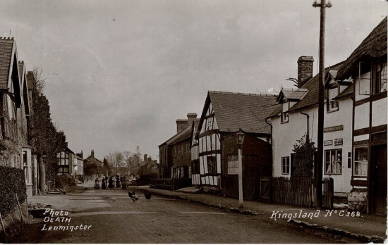 13 Old Post Office (now Greycoat) then Dunn's shoe shop and Longford on right, Vartry cottage on left; postmarked 1924