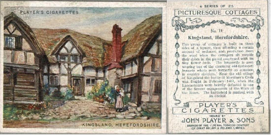 25 Longford; a Players Cigarette card from the 'Picturesque Cottages' series