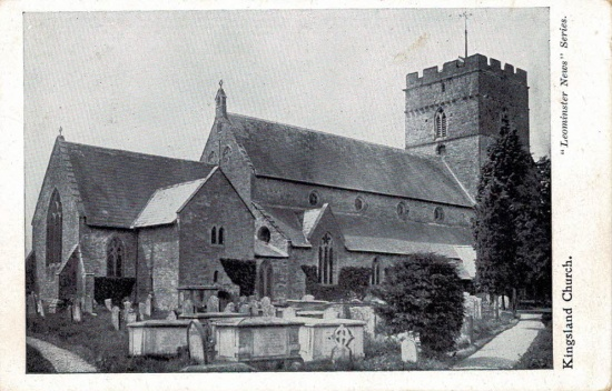 39 St Michael and All Angels church; postmarked 1905