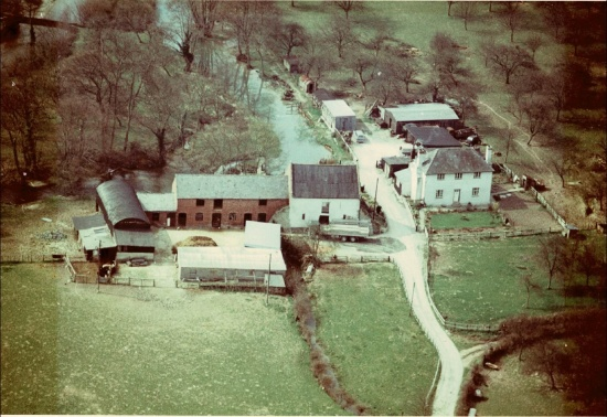 An aerial view of Lugg Mill, Lugg Green taken in April 1967; courtesy of Sally Deakin