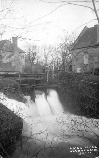 The sluice gates on the mill race behind Lugg Mill, Lugg Green; dated 1911/12; courtesy of Malcolm Sampson