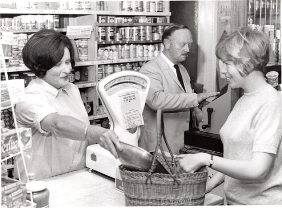 Village Stores (now Edgefield) in the early 1970s ; courtesy of the Markham family