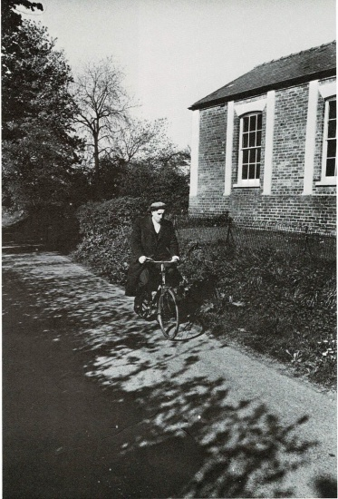 George Cross cycling by the Methodist Chapel © Chris Chapman