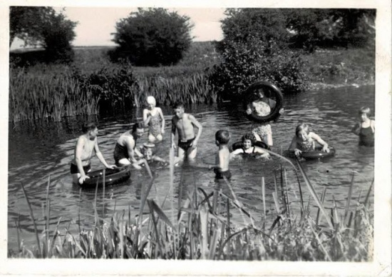 Swimming party in the River Lugg
