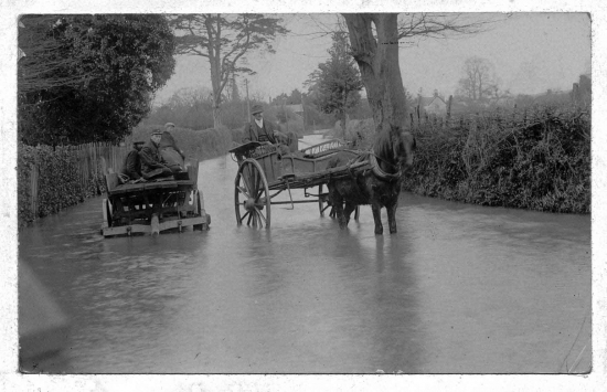 Kingsland Floods (at Rectory Corner near the Fire Station)  Photo courtesy of M. Sampson