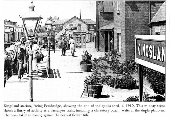 Kingsland Railway Station 1910; courtesy of Roger Brookes