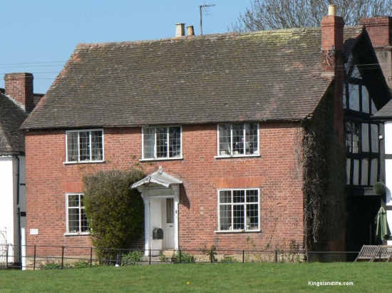 Angel House - One of the Oldest Houses in the Village (early 17th Century). It was half-timbered (as can been seen from the right hand side) but the front was refaced in brick in late 18th Century