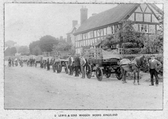Workers from G. Lewis & Sons Waggon Works, Kingsland; Photo Courtesy M. Sampson